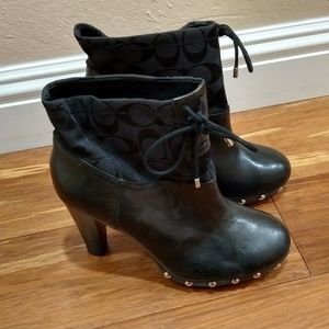 Coach boots with studs and monogram